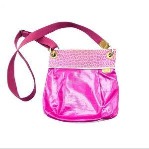 Fossil Handbag Pink Zip Top Closure Crossbody,